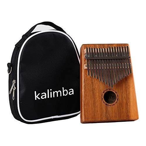 17-Ton-Daumenklavier, Holz-Fingerklavier mit Studienführer und Hammer, Geschenk für Kinder, geeignet für erwachsene Anfänger. (Acacia)