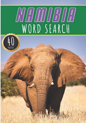 Namibia Word Search: 40 Fun Puzzles With Words Scramble for Adults, Kids and Seniors | More Than 300 Namibian Words and Vocabulary On Cities, Famous ... Culture Of Country, History and Heritage.