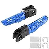 zhuolong 2 Piezas de Clavijas de pie Delanteras Pedales de aleación de Aluminio Aptos para Kawasaki Ninja Z125 Pro Z250/SL Z400 Z900(re)