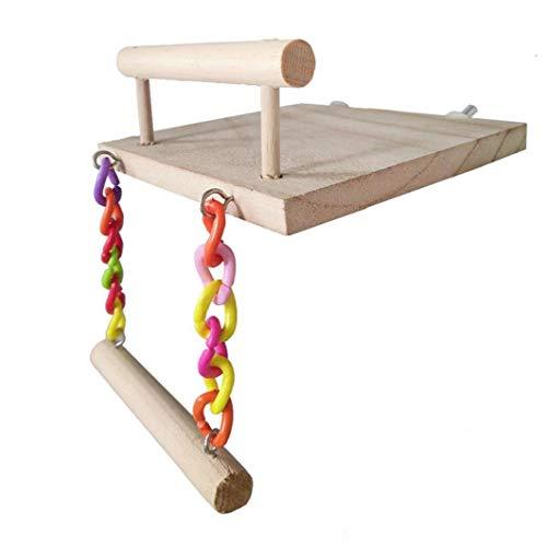 Vogelspielzeug Papageienschaukel Sitzstangen Käfig Kletterleiter Springbrett Leiter Schaukel Vogelstange Kauspielzeug Haustierzubehör