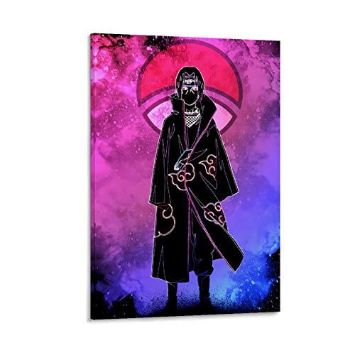 DRAGON VINES Póster de Naruto Itachi Soul of The Fallen Brother - Lienzo decorativo (20 x 30 cm)