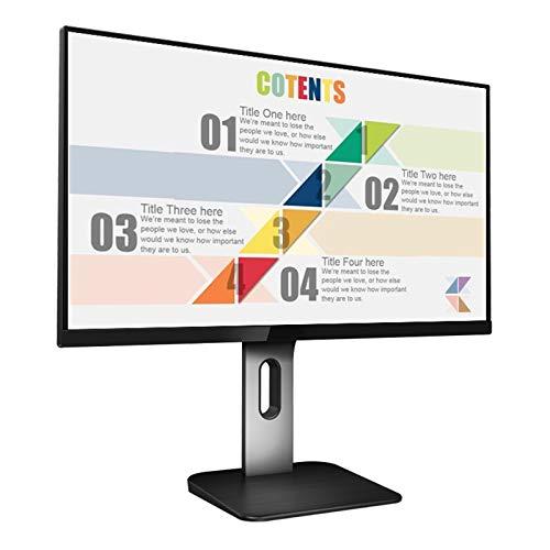 DYYAN Computer Monitor Full HD (38402160) 60Hz IPS 5ms Ultrathin Bezel DisplayPort HDMI VGA Adjustable Stand (Height, Pivot, Swivel, Tilt), White/Black