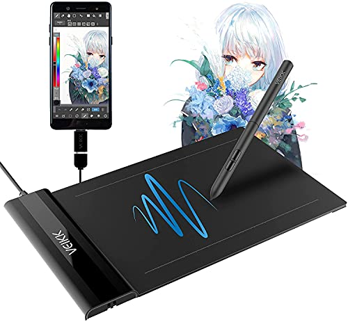 VEIKK S640 V2 6x4 inch Graphic Drawing Tablet, OSU Tablet, with 8192 Level Battery-Free Pen, Compatible with Windows/Mac/ Andorid OS for Painting, Sketch, Design, Online Teaching & Art Creation