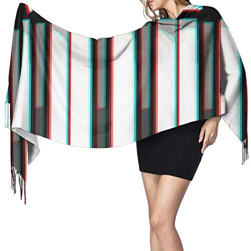 Música piano teclado moda mujer chal largo salpicaduras de pintura baloncesto cachemir bufanda invierno cálido bufanda grande caja de regalo