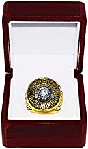 BOSTON CELTICS (Owner Irv Levin) 1976 NBA FINALS WORLD CHAMPIONS (Pride & Teamwork) Vintage Rare & Collectible High-Quality Replica NBA Basketball Gold Championship Ring with Cherrywood Display Box
