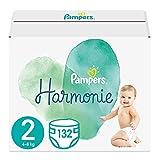 Pampers Baby Windeln Größe 2 (4-8 kg) Harmonie, 132 Stück, HALBMONATSBOX
