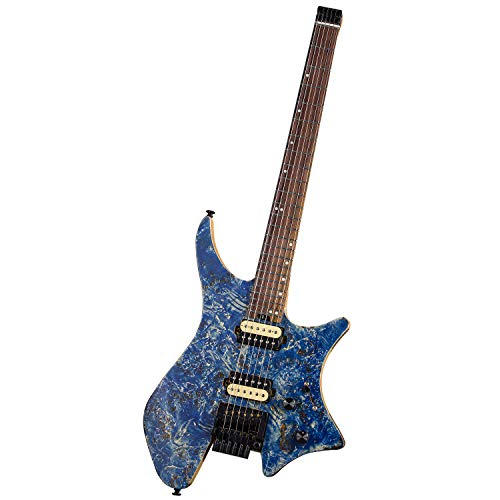 EART Headless Electric Guitar Double Shake Travel Guitar Small But...