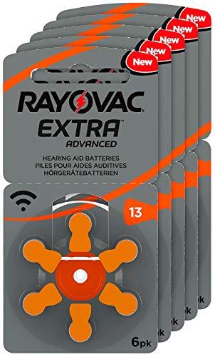 RAYOVAC Hörgeräte-Batterien 13 Extra Advanced 1,45V 310 mAh, 5X 6er Sparpack