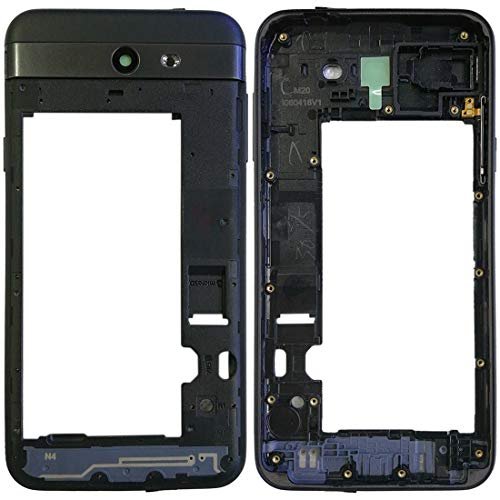 YUEZHIMY Intercambiable para Piezas dañadas Frame alojamiento Trasero for Galaxy J7 V J727V (Verizon) Accesorio (Color : Black)