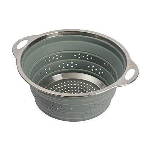 ProCook faltbares Sieb - Küchensieb - 24 cm - Seiher - Faltsieb - Silikon und Edelstahl - Abtropfsieb - Nudelsieb
