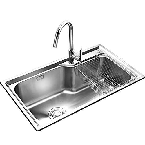 Kitchen Sink. Fregaderos de un Seno Fregadero de la Cocina Tazón de...
