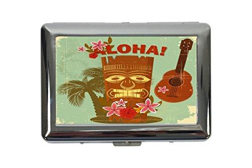 portasigarette in Metallo Vacanza Agenzia Di Viaggi Hawaii Aloha Stampato