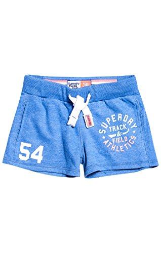 Superdry Damen Sportshorts Track & Field Lite, Blu (Boardwalk Blue Marl), 38 (Herstellergröße: 10)