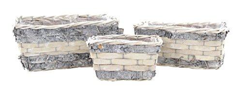 Cestas de siembra de madera con inserciones, (A) Viereckig 3er Set