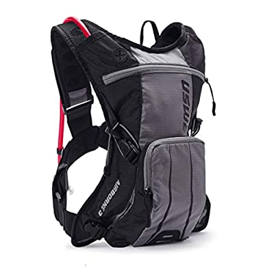 USWE Airborne 3L - Limited Race Edition, Hydration Pack with 2.0L/ 70 oz Hydration Bladder, Black. Bounce Free. for Mountain Biking.