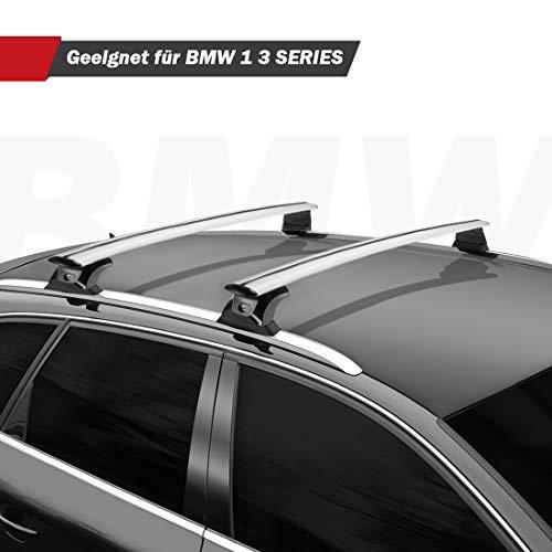 BougeRV Alu Relingträger Dachträger Querträger kompatibel mit BMW 1er 3er