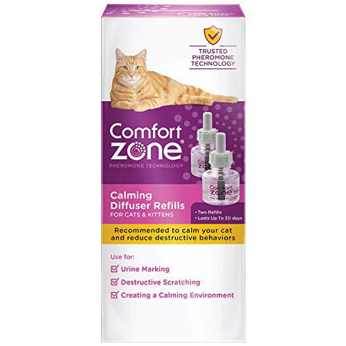Comfort Zone Cat Calming 30 Day Diffuser Refill, 48 ml- 2 Pack