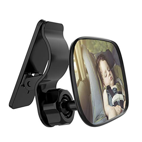 Automotive Interior Rearview Baby Mirror - Car Small Clip-On Adjustable Facing Back Rear View Seat Convex Mirror Clip on Car or Truck Sun Visor