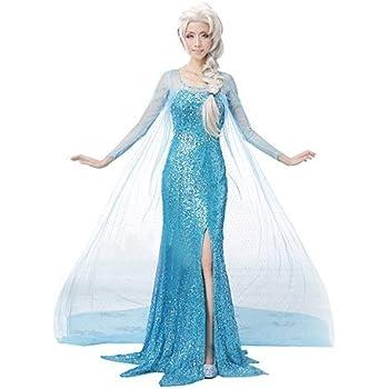 (REGINA WORKS) アナと雪の女王 エルサ ドレス コスプレ コスチューム 大人 ハロウィン クリスマス パーティー (XL)