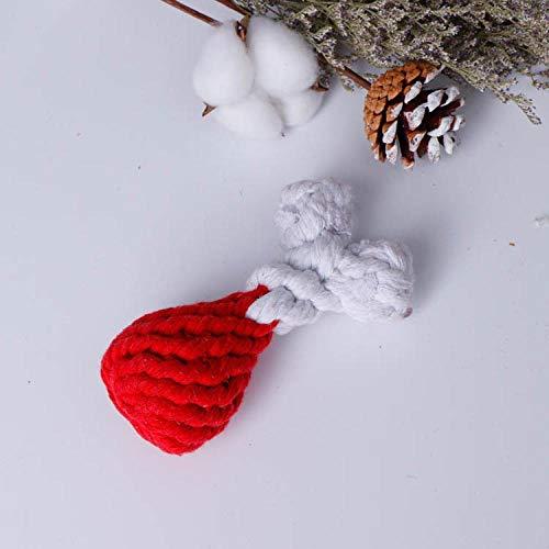 LLKD Baumwollseil Heimspielzeug Große Hundeknoten Kreative Handgewebte Heimtiere