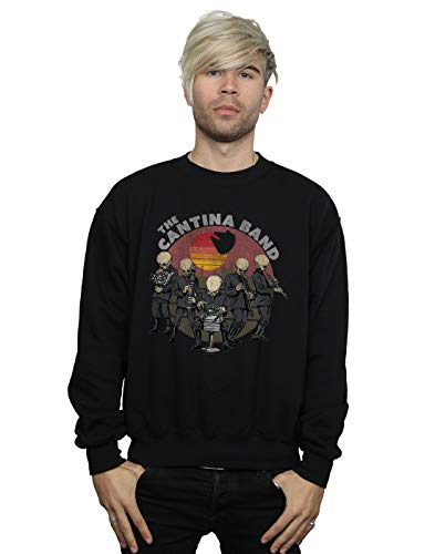 Star Wars Homme Cantina Band Sweat-Shirt Noir Small