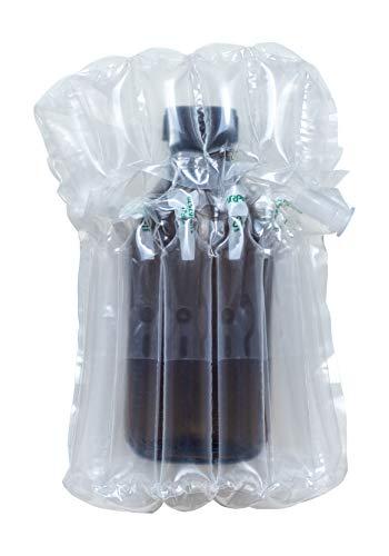 Luchtkussen - tas voor 250ml glazen fles, apothekersfles, opblaasbaar met pomp