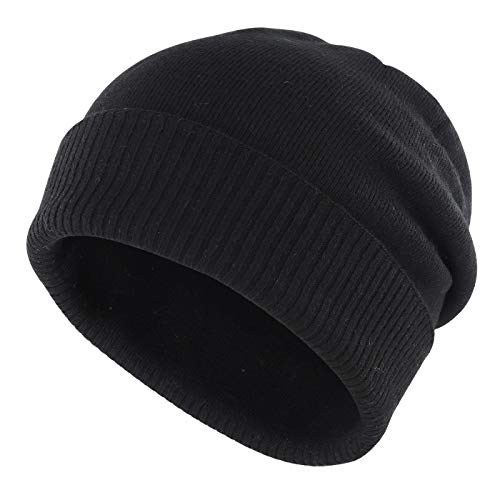 Gisdanchz Gorro Hombre Invierno Gorra Lana Mujer Black Beanie Hat For Men...