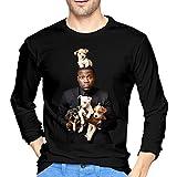 XZShop Kevin Hart Men's Style Long Sleeve Crewneck Tshirt Tee Black XXL