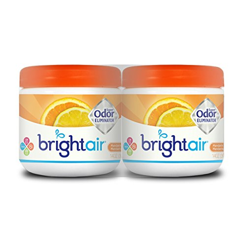 Bright Air Solid Air Freshener and Odor Eliminator, Mandarin Orange and Fresh Lemon Scent, 14 Ounces, 2 Pack