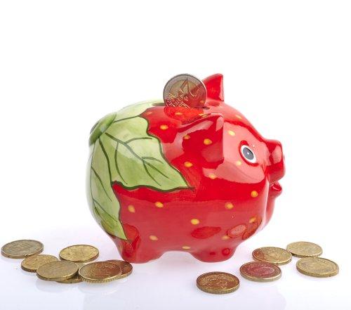 By-Bers Möchtegern-Sparschwein, sehr schöne Handarbeit aus Keramik als Erdbeere, Zebra, Tiger, Wassermelone, Marienkäfer, Maiskolben, Leopard, Karotte (Erdeere)