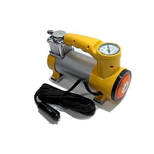 MEDIA WAVE store Mini compressore 12 v 150w 35 lt Auto Bici Barche Giallo