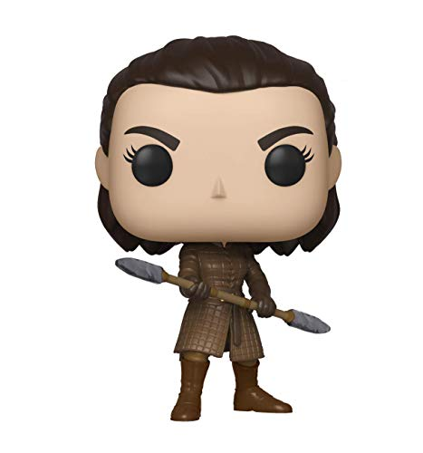 Funko Pop! TV: Game of Thrones - Arya w/Two Headed Spear, Multicolor, Estándar