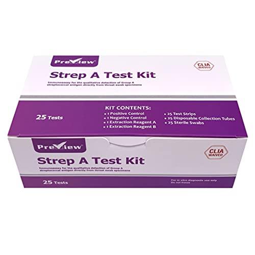 Preview - Strep Test - Rapid Strep Test Kit - Throat Testing...