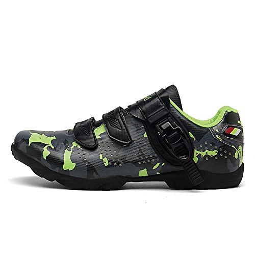 Men's Cycling Shoes Men's Road Bike Shoes Ladies Cycling Shoes Competition Cycling Shoes Cycling Shoes Mens Road Bike Cycling Shoes Mens MTB (7,Camouflage Green)