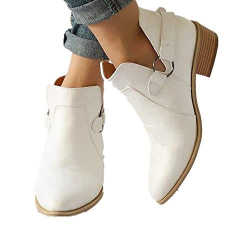 Berimaterry Zapatillas Moda Botines para Mujer Botas para Mujer Botines Mujer Tacon Invierno Planos Tacon Ancho Piel Botas de Mujer Black Friday Botines Cortos Botín Elegantes Zapatos Plataforma