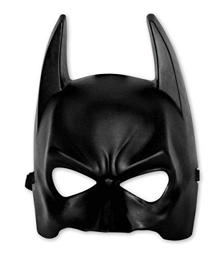 Batman Coole Maske für Erwachsene/Schwarze Halbmaske aus Kunststoff in Einheitsgröße