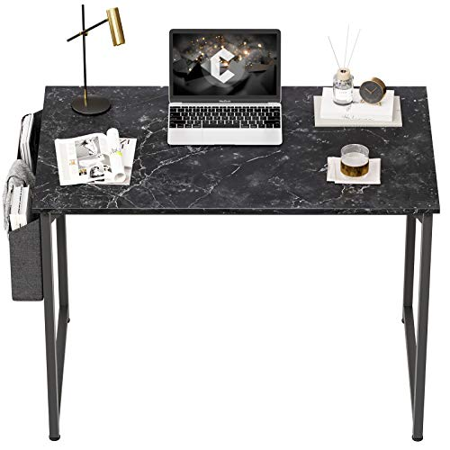"CubiCubi Computer Desk 40"" Study Writing Table for Home Office, Industrial Simple Style PC Desk, Black Metal Frame,OO"