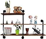Solid Wood Wall Partition Shelf As Bookshelf Storage Rack   Wall Cabinet Metal