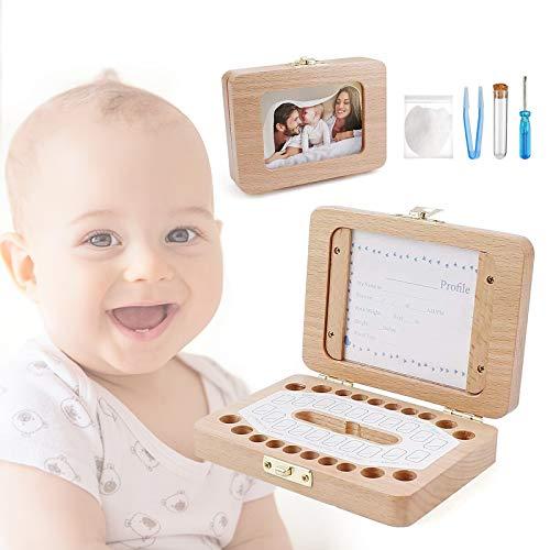 MakerHawk Baby Teeth Boxs Keepsake Wooden Baby Tooth Organizer Box Baby Teeth Collection Box Fairy Box Keepsake for Boys and Girls