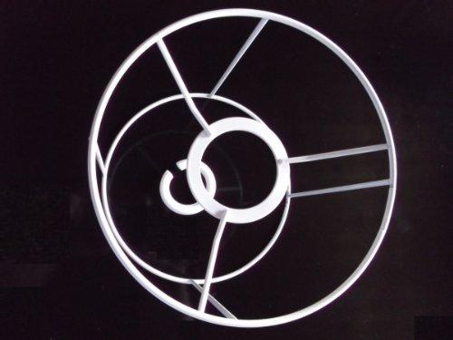 Lampenschirm-Gestell, Rund, für E14 & E27, weiß, Ø 15 cm, 15 cm hoch