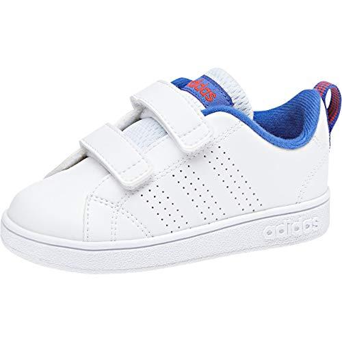 adidas Vs Advantage Clean Cmf, Scarpe da Ginnastica Basse Unisex-Bimbi 0-24, Bianco (Ftwwht/Ftwwht/Hirblu 000), 27 EU