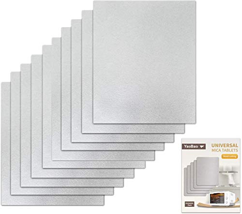 YanBan 10 hojas de repuesto para horno de microondas, universal, para guía de mica, para hornos de microondas, corte a tamaño 150 x 120 mm