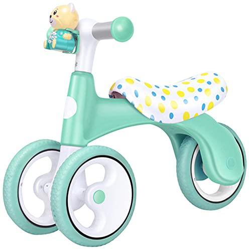 YGTMV Bicicleta Sin Pedales para Niños Triciclos Bicicleta Bebe Juguetes Bicicleta Equilibrio 0~3Año Bici Sin Pedales Infantil De Regalo Favorito del Niño,Verde