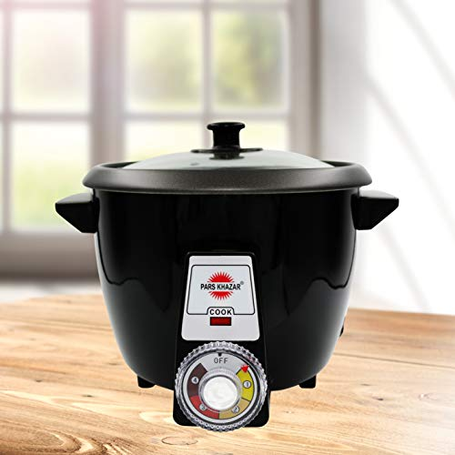 Pars Khazar Rice Cooker, Automatic, with crispy Tahdig function. Reiskocher, automatisch, mit knuspriger Tahdig-Funktion (White, 4 Person)