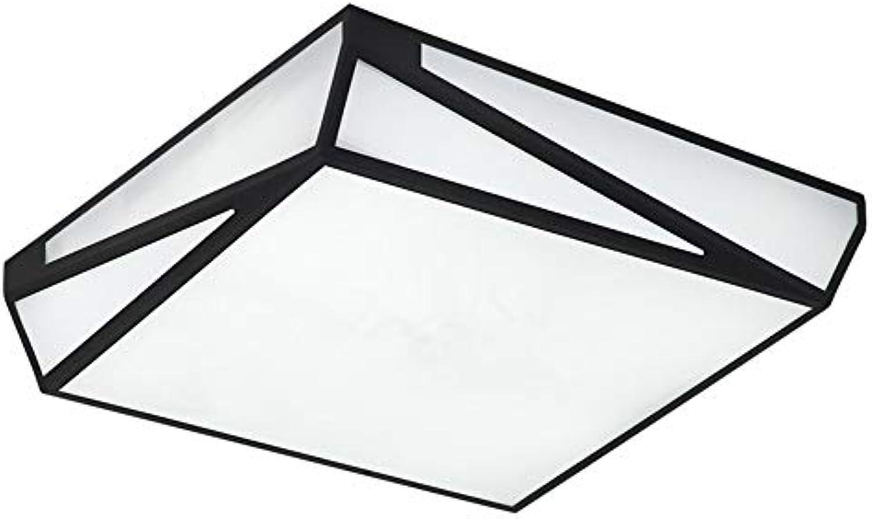 CZZ Quadratischer Unterputz brachte LED-Deckenleuchte, natürliche Schwarze wasserdichte LED-Deckenleuchten für Badezimmer-Wohnzimmer-Küche-Schlafzimmer-Flur-Flur-Balkon an