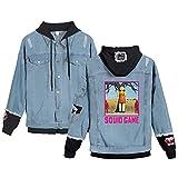 XINXIN Hip Hop Hooded Squid Game Hoodies Hombres Mujeres Unisex Streetwear Jerseys Harajuku Sudadera Otoño Niños Niñas Tops Negros