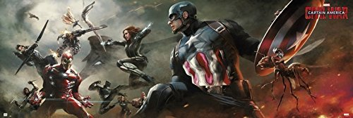 Grupo Erik Editores Marvel Captain America Civil War–Poster von Tür