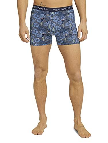 TOM TAILOR Herren Unterwäsche Gemusterte Boxershorts Hawaii Blue-medium-Allover,L/6,U625,6000