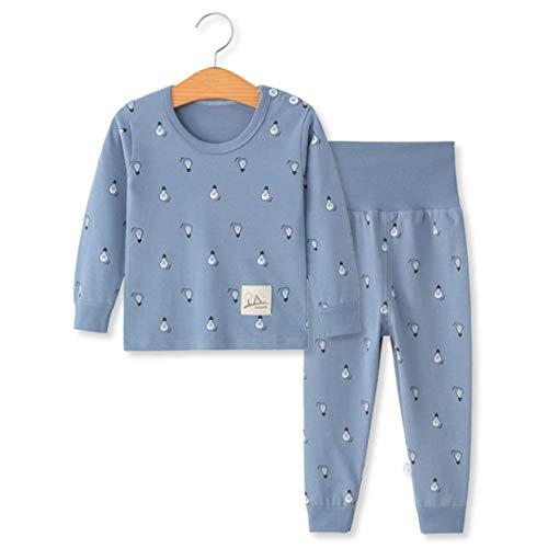 YANWANG 100% Baumwolle Baby Kinder Schlafanzüge Jungen Mädchen Pyjamas Set Langarm Nachtwäsche(Tag55/1-2 Jahre,Muster 7)