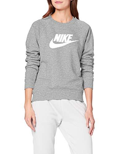 Nike Damen Sportswear Essential Fleece Pullover Hellgrau S (36-38)